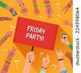 friday party concept. a lot of... | Shutterstock .eps vector #224598064