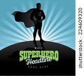 male superhero burst background ... | Shutterstock .eps vector #224609320