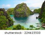 landscape of coron  busuanga... | Shutterstock . vector #224615533