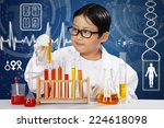 attractive young scientist... | Shutterstock . vector #224618098