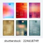 vector blurry bokeh website... | Shutterstock .eps vector #224618749