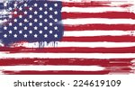 Vector Usa Grunge Flag  Painte...