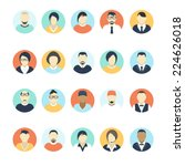 flat avatar icons. business... | Shutterstock .eps vector #224626018