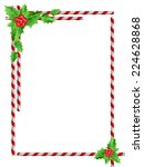christmas border with candy... | Shutterstock .eps vector #224628868