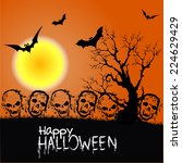 happy halloween party poster | Shutterstock . vector #224629429