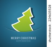 merry christmas tree applique... | Shutterstock .eps vector #224635528