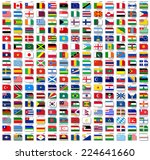 flags of world  flat vector... | Shutterstock .eps vector #224641660
