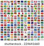 flags of world  flat vector... | Shutterstock .eps vector #224641660