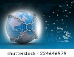 earth globe close in chain    | Shutterstock . vector #224646979