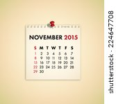 november 2015 note paper...   Shutterstock .eps vector #224647708