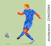 abstract shape soccer player ... | Shutterstock .eps vector #224652064