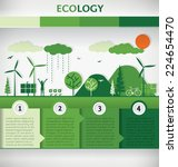 vector ecology concept... | Shutterstock .eps vector #224654470