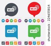 free wifi sign. wifi symbol.... | Shutterstock . vector #224655814