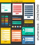 set of colorful login forms | Shutterstock .eps vector #224656540
