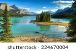 spirit island in maligne lake... | Shutterstock . vector #224670004