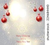 decorative christmas background ...   Shutterstock .eps vector #224684440