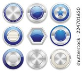 silver blank badge collection... | Shutterstock .eps vector #224701630