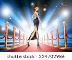 illustration of an elegant... | Shutterstock .eps vector #224702986