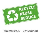 recycle reuse reduce green... | Shutterstock .eps vector #224703430