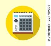 music midi production center... | Shutterstock .eps vector #224709379