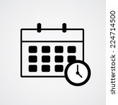 schedule icon and clock. vector ... | Shutterstock .eps vector #224714500