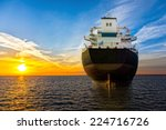 big ship view from the stern at ... | Shutterstock . vector #224716726