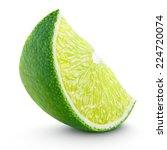 slice of lime citrus fruit... | Shutterstock . vector #224720074