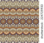 indian seamless floral pattern. ... | Shutterstock .eps vector #224725933