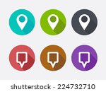 map pointer icon. location... | Shutterstock .eps vector #224732710