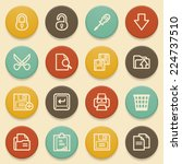 document contour icons with... | Shutterstock .eps vector #224737510
