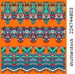 seamless ethnic floral paisley... | Shutterstock . vector #224744803