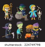 costumes and traditional... | Shutterstock .eps vector #224749798