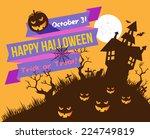 halloween  | Shutterstock .eps vector #224749819