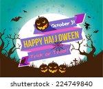 halloween  | Shutterstock .eps vector #224749840