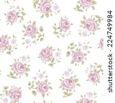 floral seamless vintage pattern.... | Shutterstock .eps vector #224749984