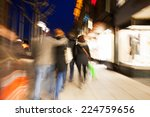 shopping crowd walking on... | Shutterstock . vector #224759656