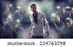 portrait of attractive male vip ... | Shutterstock . vector #224763298