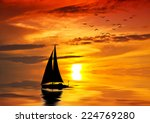 the boat talking to the sun | Shutterstock . vector #224769280