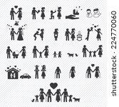 family icons set. illustration... | Shutterstock .eps vector #224770060