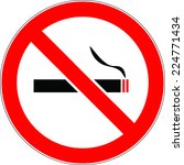 no smoking sign vector | Shutterstock .eps vector #224771434
