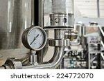 manometer pressure on the oil...   Shutterstock . vector #224772070