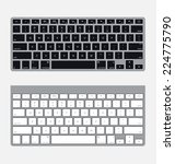 two vector modern computer... | Shutterstock .eps vector #224775790