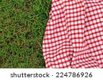 Checkered Plaid For Picnic On...