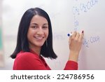 happy collage  school girl... | Shutterstock . vector #224786956