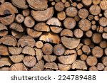 Stack Of Wood Logs  Wooden...
