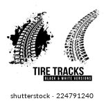 tire track vector background | Shutterstock .eps vector #224791240