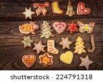 gingerbread reindeer cookies... | Shutterstock . vector #224791318