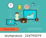 flat design vector illustration ...   Shutterstock .eps vector #224793379