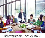 diverse casual business people... | Shutterstock . vector #224794570