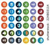 collection of web development... | Shutterstock .eps vector #224803114